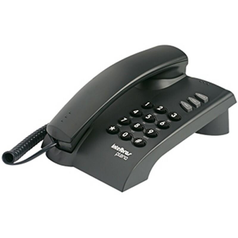 TELEFONE INTELBRAS C/ FIO PLENO CINZA ARTICO