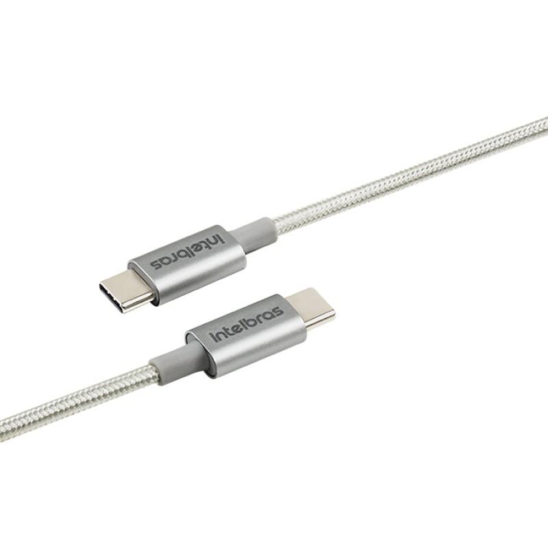 CABO INTELBRAS USB/C 1,5MM NYLON BRANCO EUCC 15NB