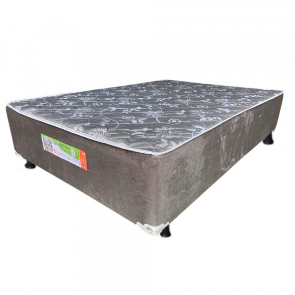CAMA BOX D28 128X188X38 MERON SAFIRA