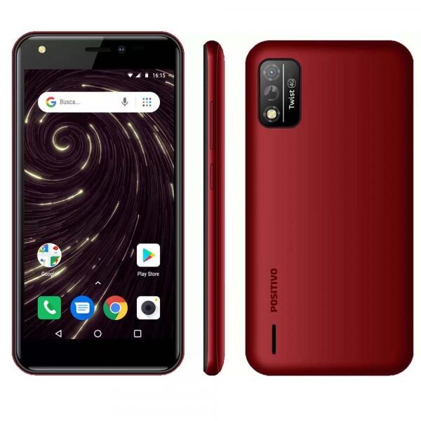 SMARTPHONE POSITIVO TWIST 4G S509 32GB OCTA-CORE 1GB RAM TELA 5'' CAM. 8MP + SELFIE 5MP VERMELHO